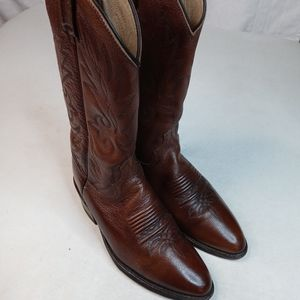 Dan Post Brown Leather Classic Cowboy Western Boot